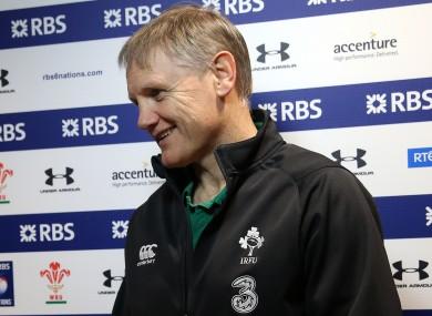 Ireland head coach Joe Schmidt.