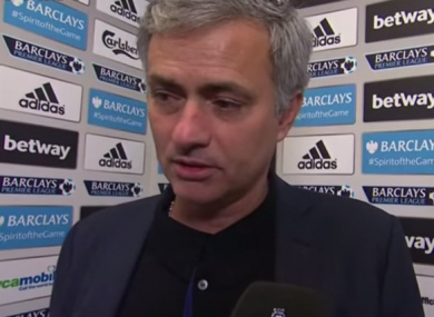 Jose Mourinho is one of the less predictable post-match interviewees.