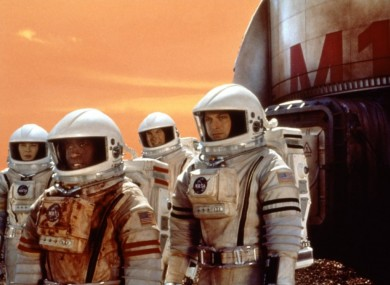 The film Mission to Mars. Not a real mission.