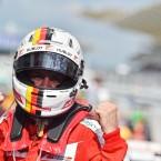 Race winner Sebastian Vettel (GER) Ferrari celebrates in parc ferme. Malaysian Grand Prix. Sepang, Kuala Lumpur, Malaysia.<span class=