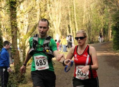 O'Regan and Kane in action in an ultra marathon last month.