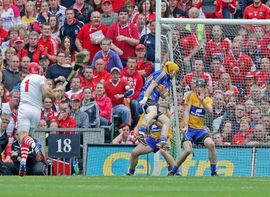 Anthony Nash taking a penalty against Clare.