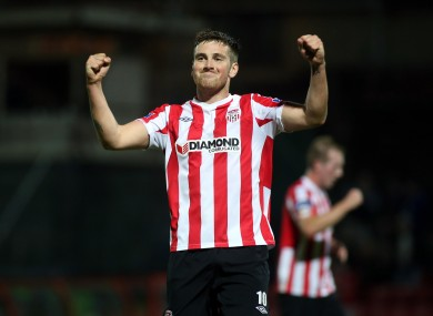 Derry's Patrick McEleney turned in a man-of-the-match display.