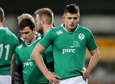 Byrne and his teammates were left disappointed against England last time out.