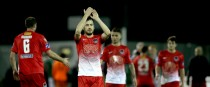 Cork City's Ross Gaynor salutes fans.
