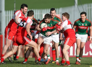 Mayo battled to win in Celtic Park today.