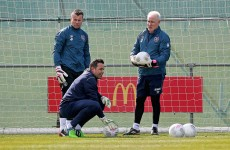 Finders keepers? There was more talk today about who will play in goal for Ireland