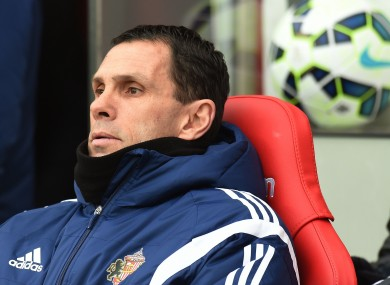 Poyet's departure from Sunderland was confirmed earlier today.