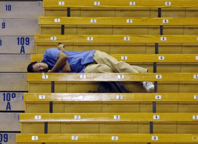 Drifting off to sleep in the stands is okay, drifting off on court... not so much.