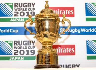 Ireland are hoping to welcome the William Webb Ellis trophy in 2023.