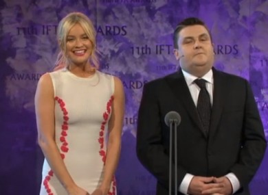 Laura Whitmore and Simon Delaney helming last year's ceremony.