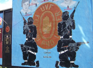 The men claimed to be from the UVF but there was no paramilitary involvement in the threats.