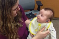 The moment this baby hears his Mam's voice for the first time will melt your heart