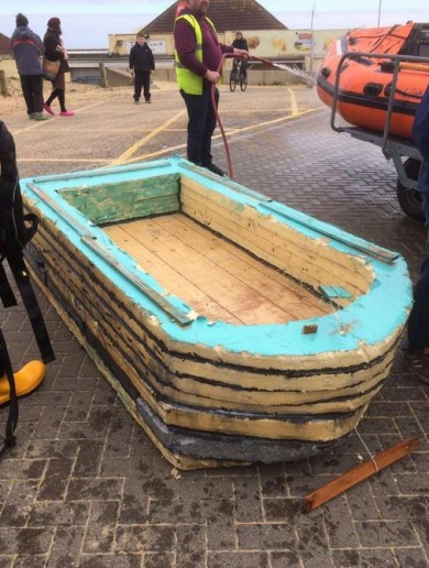 Two men set out into the North Sea in this £9 homemade boat. It didn't end well