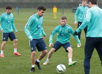 Byrne has recently been brought in to train with the Man City first team.