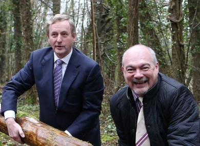 Enda Kenny and Martin Dalby of Center Parcs, today