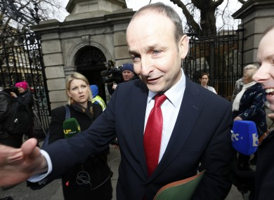 Party leader Micheál Martin