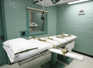 The execution chamber in Huntsville, Texas.