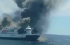 Passengers and crew abandon ship after fire engulfs Spanish ferry