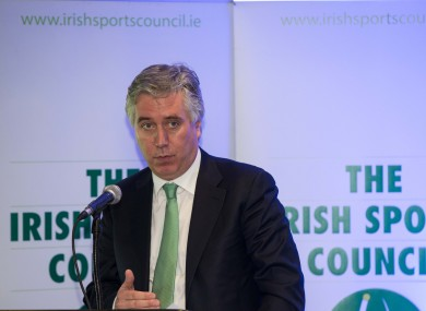 John Delaney speaking at today's announcement.