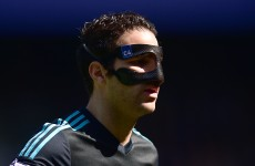 Masked man Fabregas blasts home at the death with a huge goal for lacklustre Chelsea
