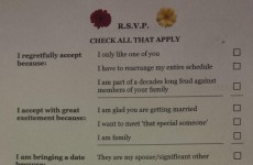 Behold! The wedding RSVP card to beat all others
