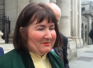 Joanna Jordan outside the Supreme Court yesterday.