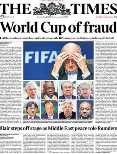 'World Cup of fraud' – Today's front pages haven't held back on the latest Fifa storm