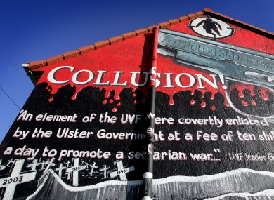 A mural on the side of a house in Belfast.