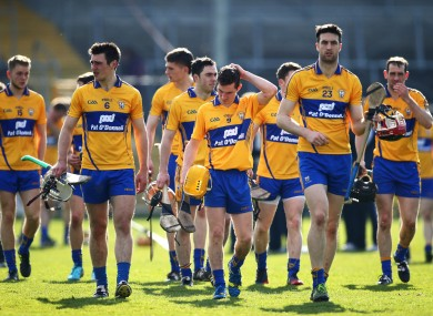 The Clare squad suffered relegation when they lost their playoff against Kilkenny in Nowlan Park.