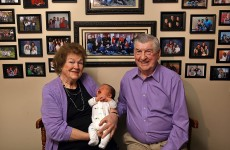 Meet the Zangers. This is their 100th grandchild.