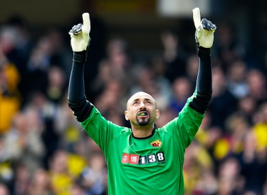 15 clean sheets in 44 Championship appearances has convinced the Vicarage Road hierarchy to keep Gomes.