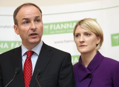Micheál Martin and Averil Power pictured in 2012.