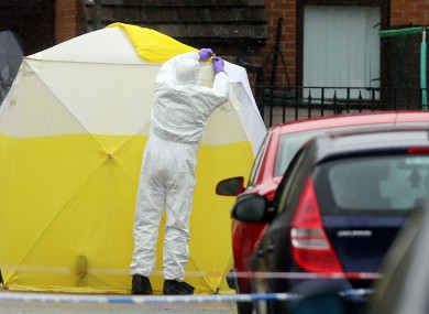 Forensic officers in Welsh Street, in the Markets area