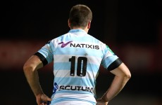 Comin' home: Jonathan Sexton wore the Racing Metro jersey for the last time tonight