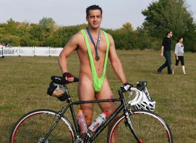 File photo of a man wearing a mankini.