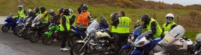 Charity rally biker killed in road collision