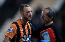 David Meyler shows off his war wounds after suffering gruesome eye injury