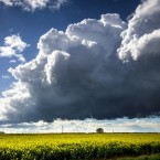 Storm clouds over the Vale of Belvoir, Leicestershire, during the Bank Holiday weekend.<span class=
