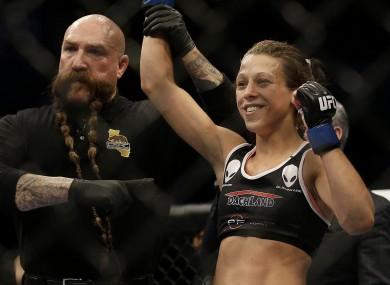 UFC women's strawweight champion Joanna Jedrzejczyk.