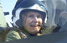 Watch this 92-year-old woman fly a Spitfire war plane