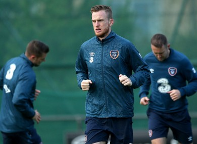 Alex Pearce is currently on duty with the Ireland squad.