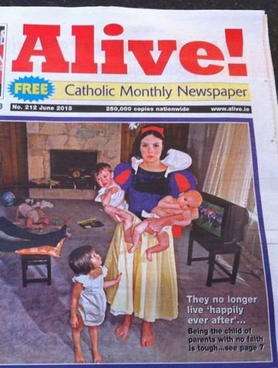 Artist says Catholic paper used image without permission to promote faith in the home