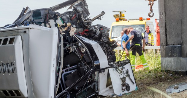 Driver killed, child in intensive care as bus carrying schoolchildren crashes