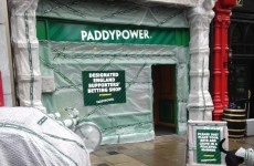 Look what's happened to the Paddy Power shop on Baggot Street…