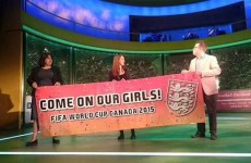 This Women's World Cup banner demonstrates why punctuation is important