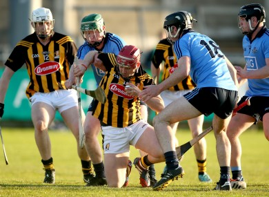 Dublin and Kilkenny players in opposition last month.