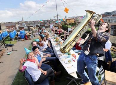 'Street Feast' 2013 - on a Dublin rooftop.