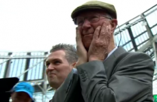 Jack Charlton was moved to tears by a standing ovation at Lansdowne Road