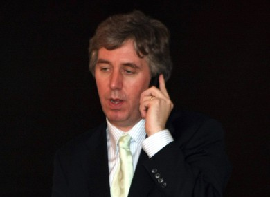John Delaney on the phone (File photo)